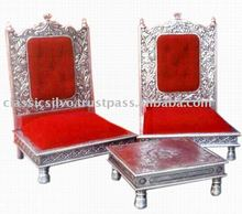 Royal Silver Carved Hukka Bar Furniture (Silver Hukka Bar Furniture from India)
