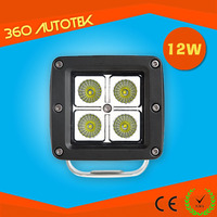 led work light epistar 12w 12V 24V led light for auto buses truck moto