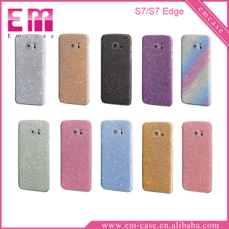 Full Body Screen Protector For iPhone 7 Sticker glitter skin sticker for Galaxy S7 S7 edge