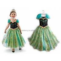 Lovely Party dress china supplier all year provid anna dress fabric for frozen snowflake fabric for elsa QKC-1987