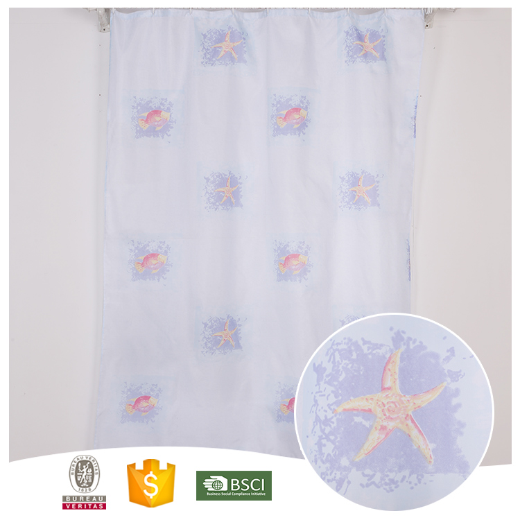 New Products 10 Years Experience Waterproof Shower Curtain with Weighted Bottom