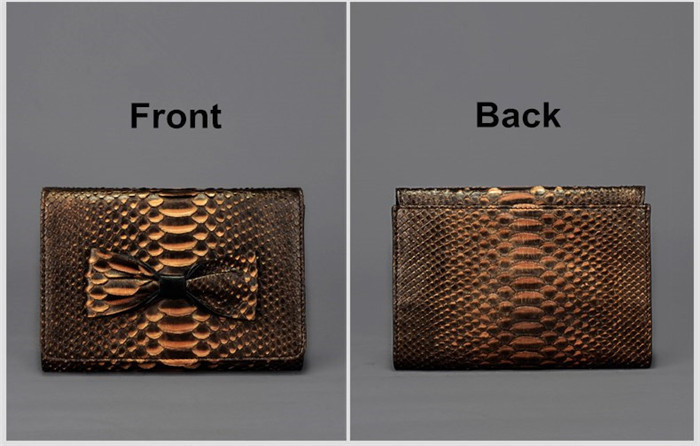 Luxury handmade genuine python leather clutch for women custom ladies clutch bag