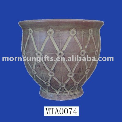 Decorative terracotta antique clay pottery