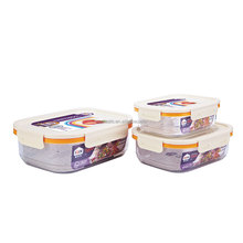 microwave Stackable Food Container Lunch Box Snap Seal food set of 3
