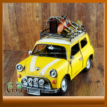 China supplier Reliable Quality antique metal yellow car mould child toy