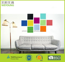 Tempered Decorative Color cutting Magnetic Glass Whiteboard