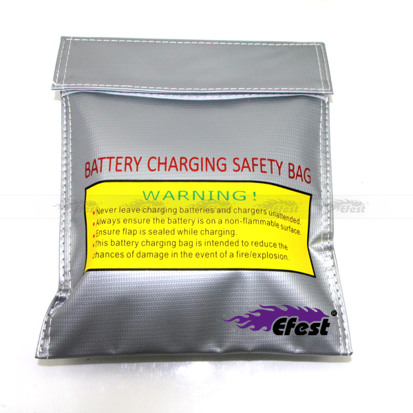 Storage Safety Bag Explosion Proof Lipo Bag For Cylinder Battery 3.7V / 4.2V Battery