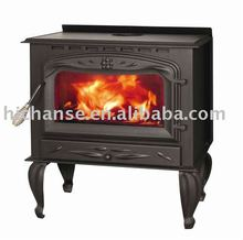 Wood stove WSD-A09 with 8.5KW, cast iron door and legs