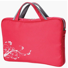 Wholesale custom 17.5 inch pink handle women laptop bag