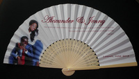 Hot Selling Cheap Pure Manual Promotion Bamboo Paper Hand Fan