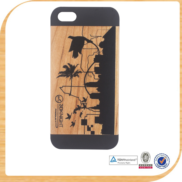 mobile phone real wood phone case for samsung s4e