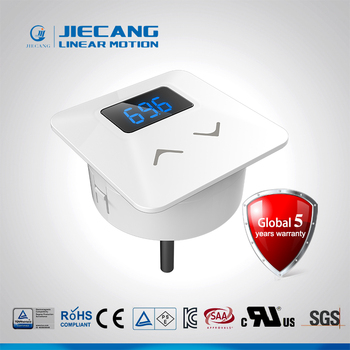 Jiecang JCHT35M1A white square touch screen with blue backlight lifting desk hand set control
