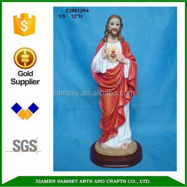 Wholesale OEM Jesus sculpture Resin Christianism Jesus figurine Other gifts & crafts
