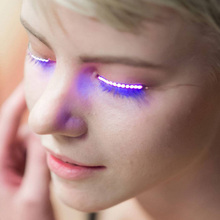 own brand eyelashes Sound Interactive Flashing eyelashes private label led eyelashes