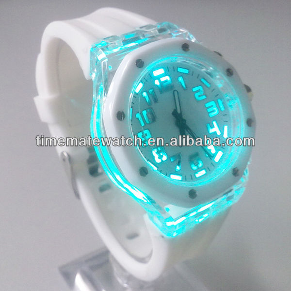 Children gifts wholesale colorful silicone flashing light watch