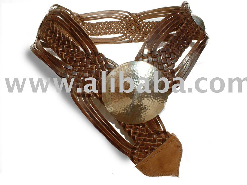 Moroccan belt Genuine leather , natural leather tannery