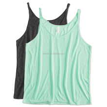 OEM Wholesale No Brand Clothing Manufacturer Ladies Cotton Rayon Slub Scoop Neck Flowy Burnout Tank Tops