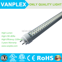 Long lifespan 1.2m G13 18w Clear Stripy Frosted cover led compatible ballast t8 tube