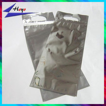 clear aluminum foil wine bag packing with strong glue seal