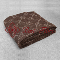 Double jacquard shawl natural color noble style