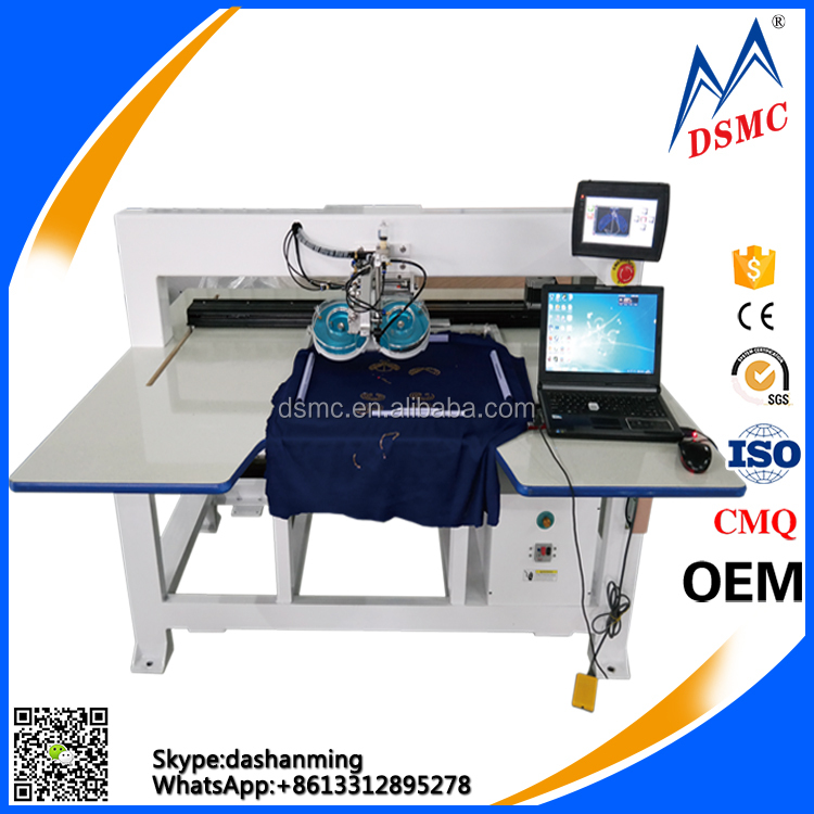 Computerized automatic ultrasonic hotfix rhinestone setting machine for garment