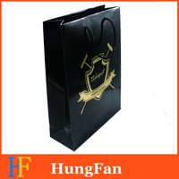 Custome Logo hot stamping Printed Shopping paper Bag
