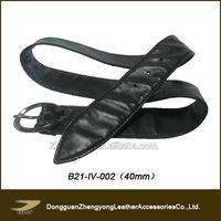 Elegant western wholesale leather belt strap