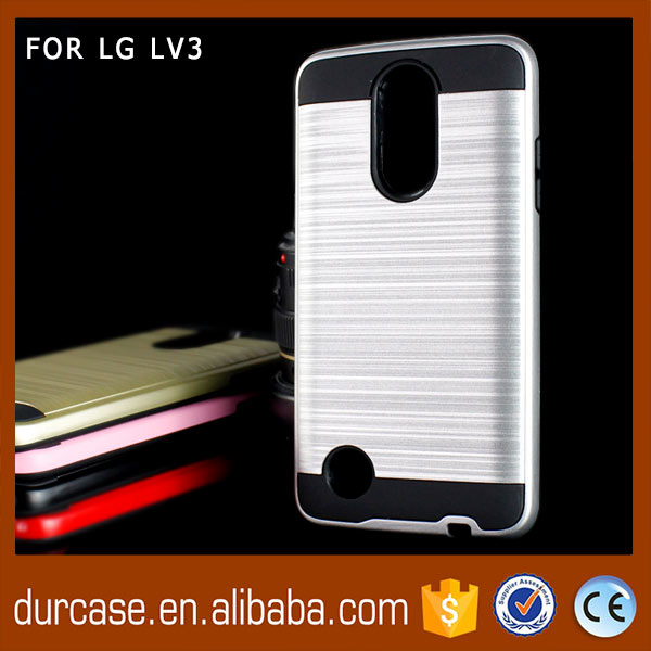 2017 New 2 in 1 Mars Combo Case Brushed Metal TPU Back Cover for LG LV3/ms210/Aristo Phone Case