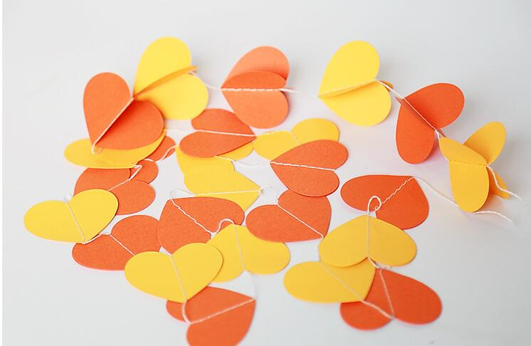 wedding birthday baby shower party room decorations backdrop heart dot paper hanging bunting banner streamer garland