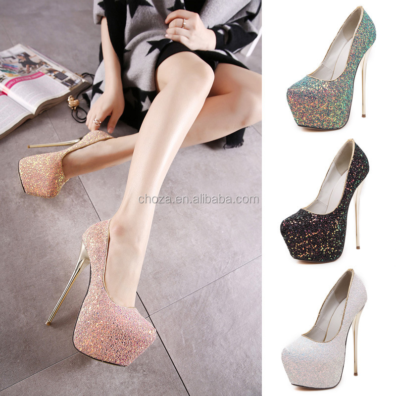 C71888A Pink 12cm High Heels Women Bridal Wedding Shoes