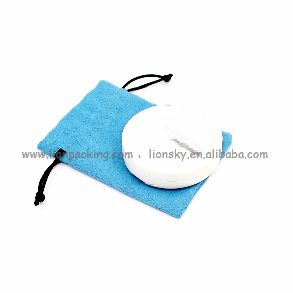 Made In China Make Up Packing Suede Drawstring Pouch Make Up Bag