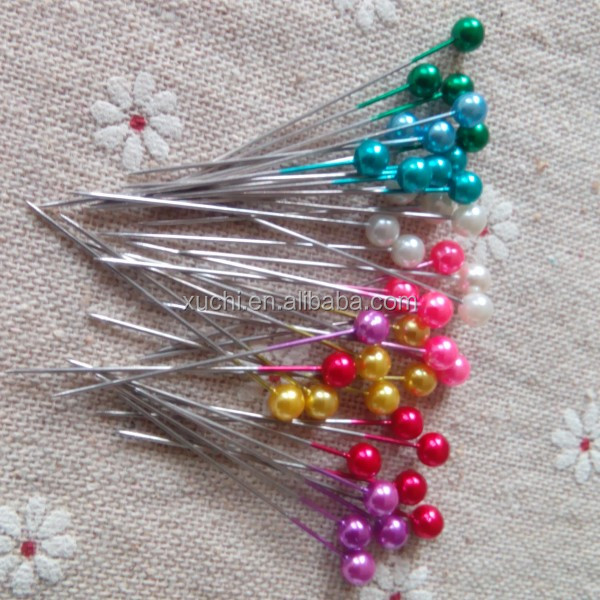 "1-1/2"" round head dressmaker pin in assorted color"