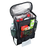 Car Back Seat Organizer/Auto Seat /Multi-Pocket Travel Storage Bag/Insulated Car Seat Back Drinks Holder Cooler