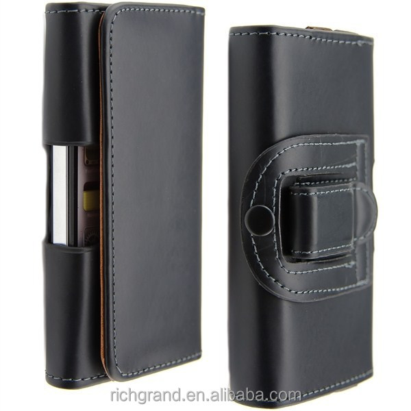PU Leather Mobile Phone Pouch for iPhone 5 6 6 plus Belt Clip Holster Phone Bag