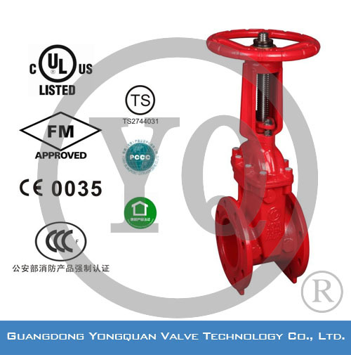 FM/UL Resilient Seated OS&Y Gate Valve for Fire Fighting