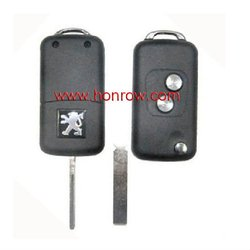 Highest Quanlity and Hot-selling Peugoet 307 flip remote 2button remote key shell-good quality with free shipping