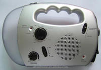 AM/FM Radio built-in rechargeable battery LED torch and alarm