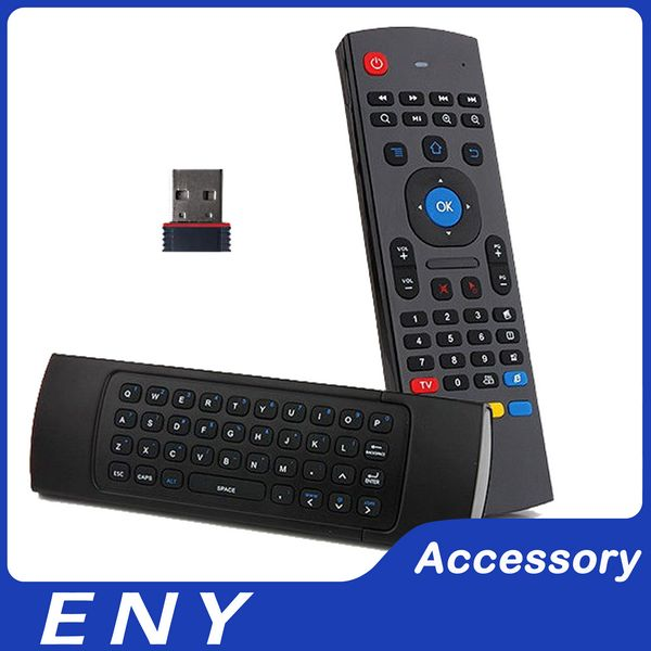 Wireless Remote Qwerty Keyboard for Android TV Box 2.4G Air Mouse MX3 Keyboard Groscope Built in