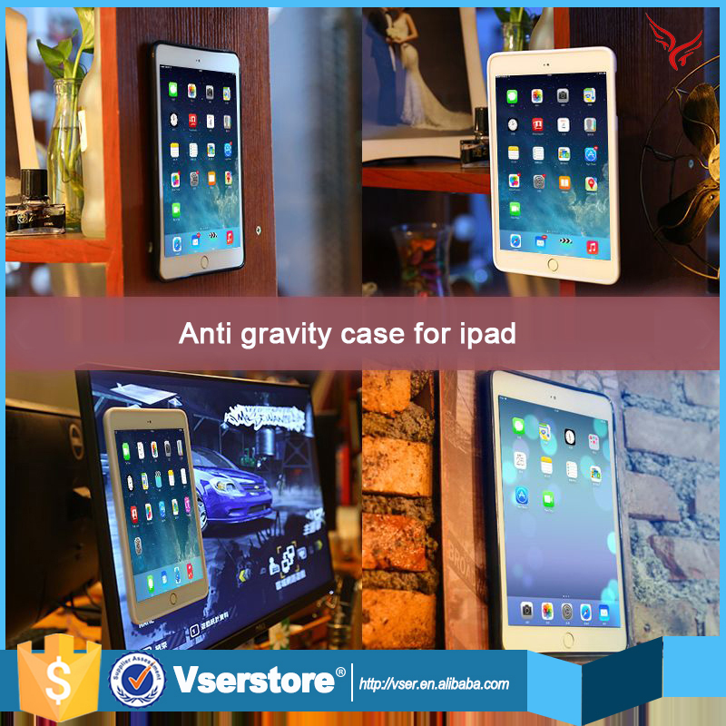 New arrival nano suction case cover magical selfie sticty anti gravity case for ipad mini 2
