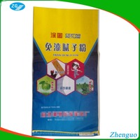 PP woven laminated color printing 25kg cement bag