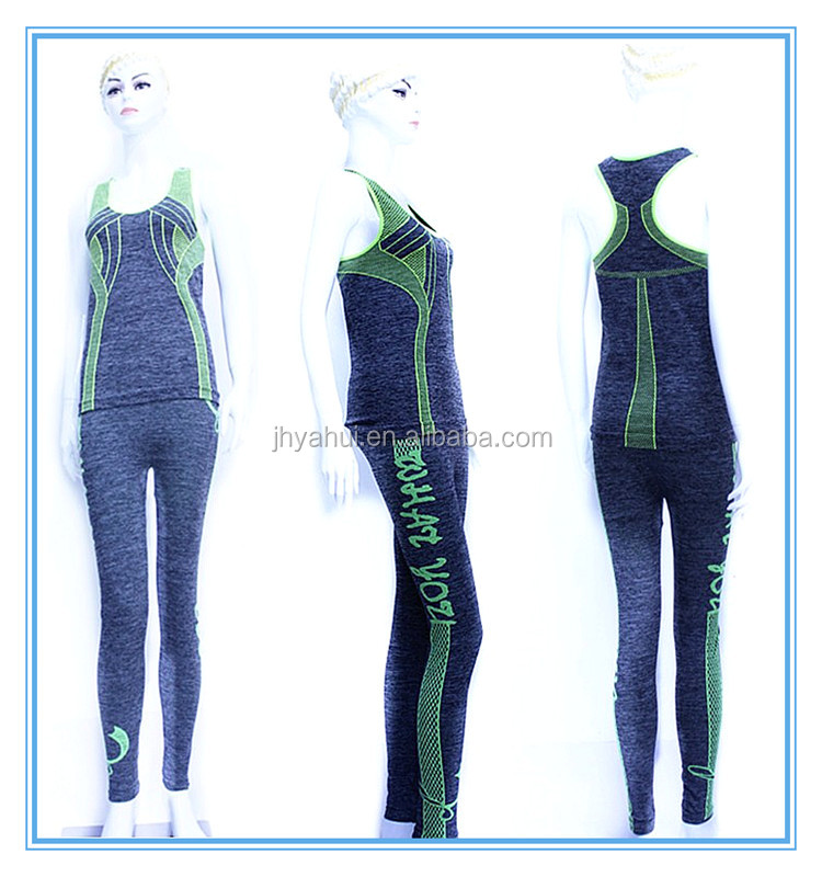 GirlsSeamless Sport Yoga Fitness Clothes Set
