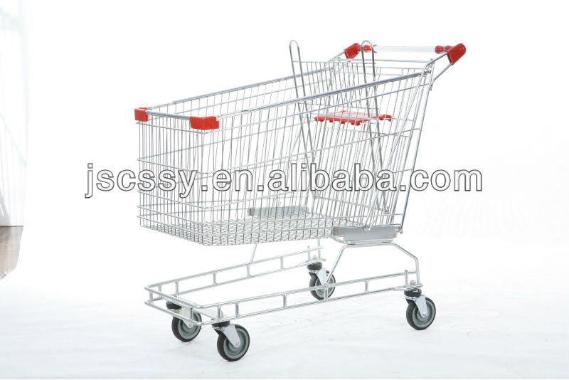 Asia Style Supermarket Shopping Trolley With Baby Seat