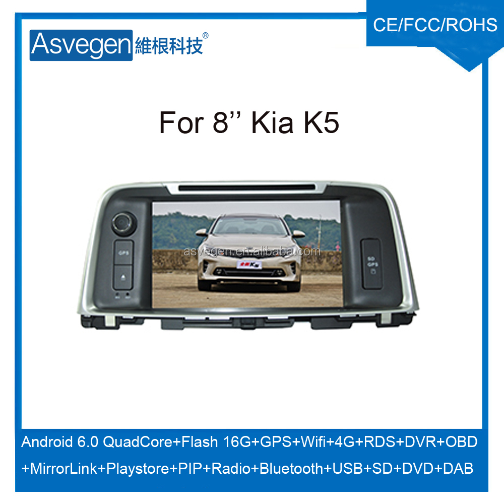 Wholesale Android Car DVD Player For 8inch Kia K5 Car GPS Support Buletooth Radio Wifi Playstore With Auto Spare Parts Car