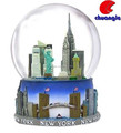 Custom Handmade Poly Resin Building Model Souvenir Water Globe Collectibles