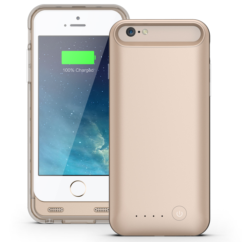 OEM Slim 3100mAh Power Case For iPhone 6 MFI Approved With Colorful Changeable Frame