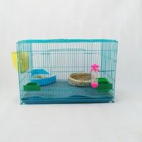 New Strong Chinese Brid Cage Wooden Rabbit Cage Blue