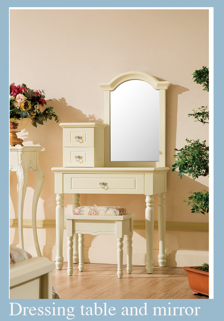 High end classical Country style Solid Wood Used Bedroom Furniture