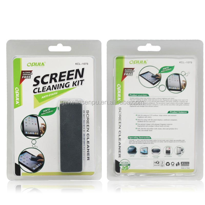 2 in 1 LCD Screen Cleaning Set green cleaning kit,LCD cleaner suite/computer screen clean set