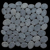 Grey pebble stone mosaic,natural mosaic wall tiles