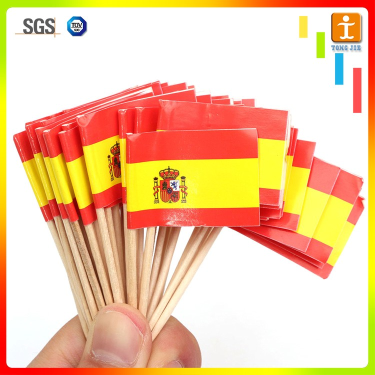 Colorful sports meeting event small pvc hand flag